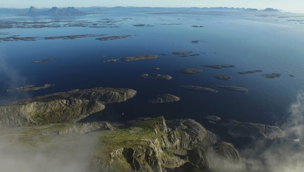 Lovund seen from the sky