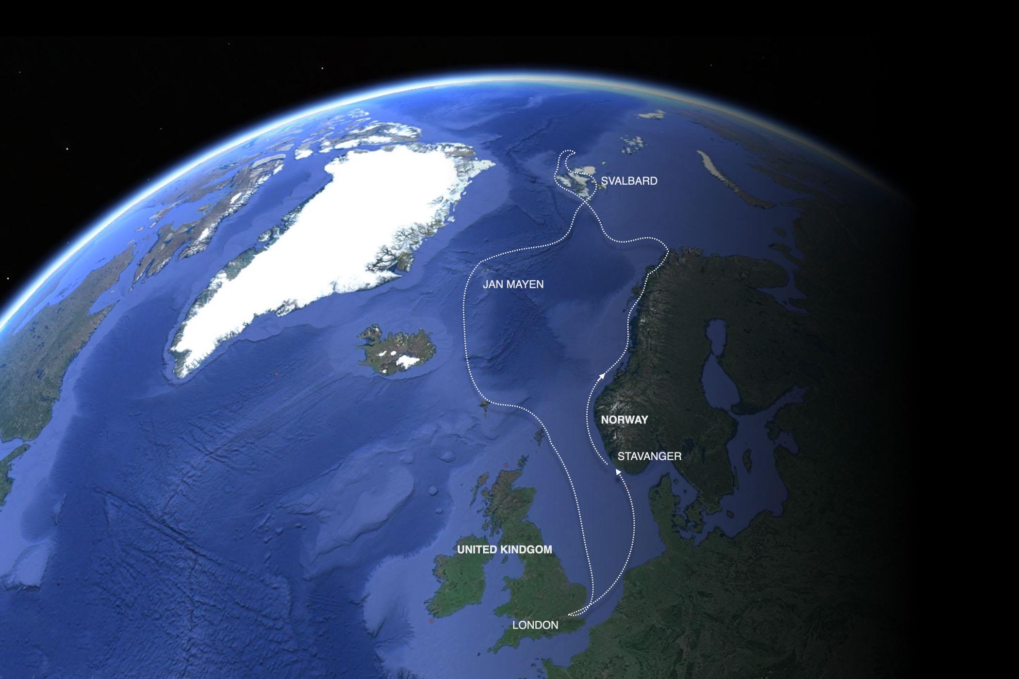 Map North Atlantic