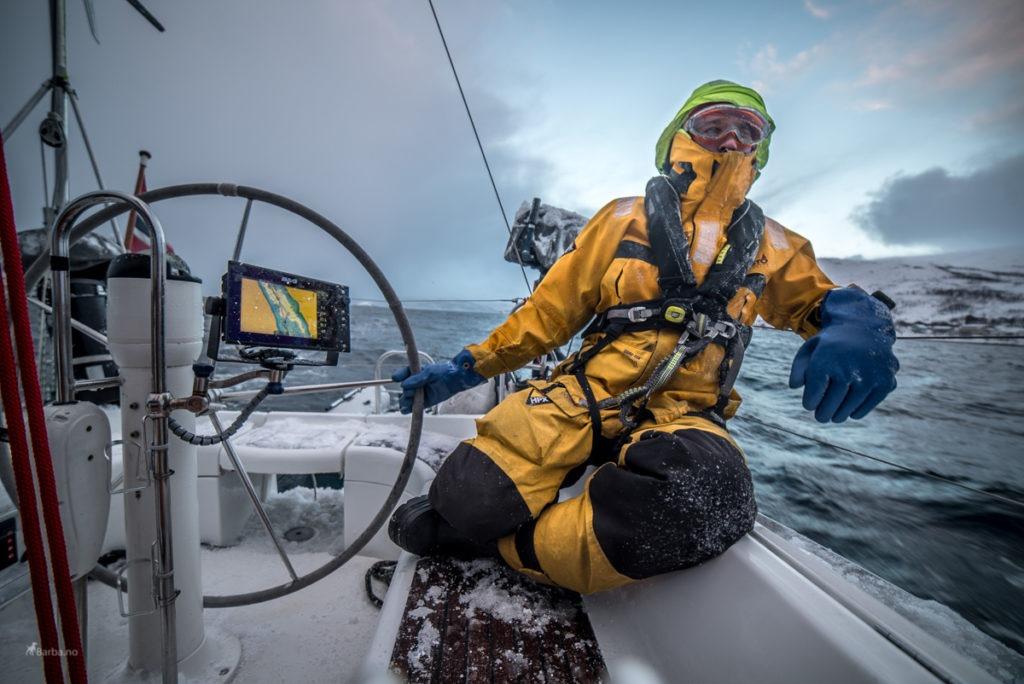 sailing winter norway