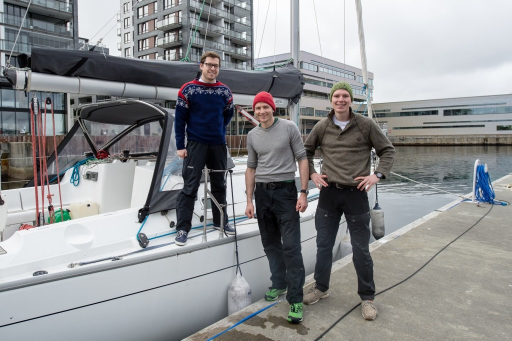 Martin, Andreas and Nikolai ready to set sail.