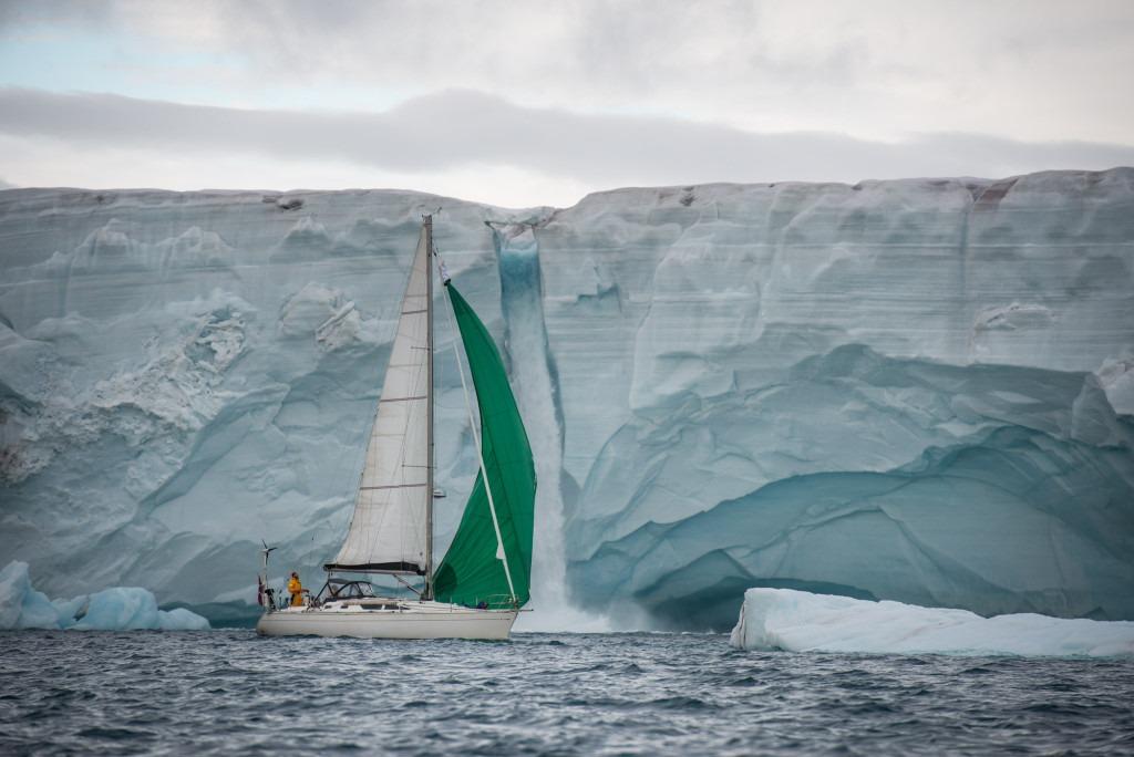 Barba at the Østfonna glacier