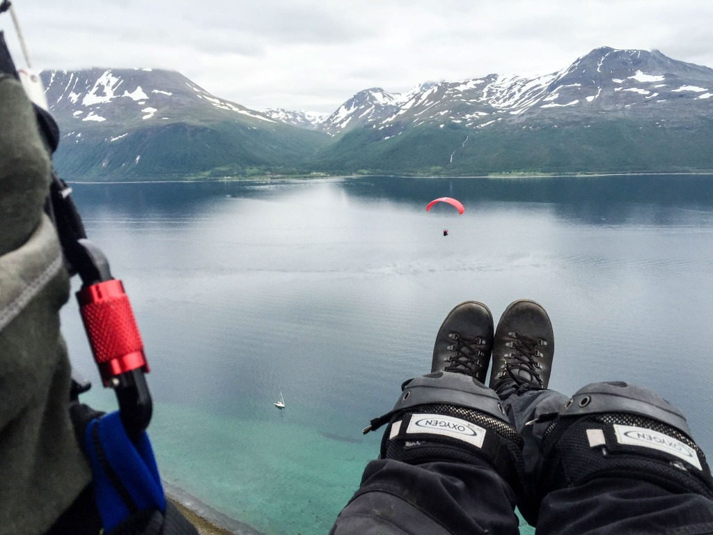 Paragliding somewhere south of Tromsø
